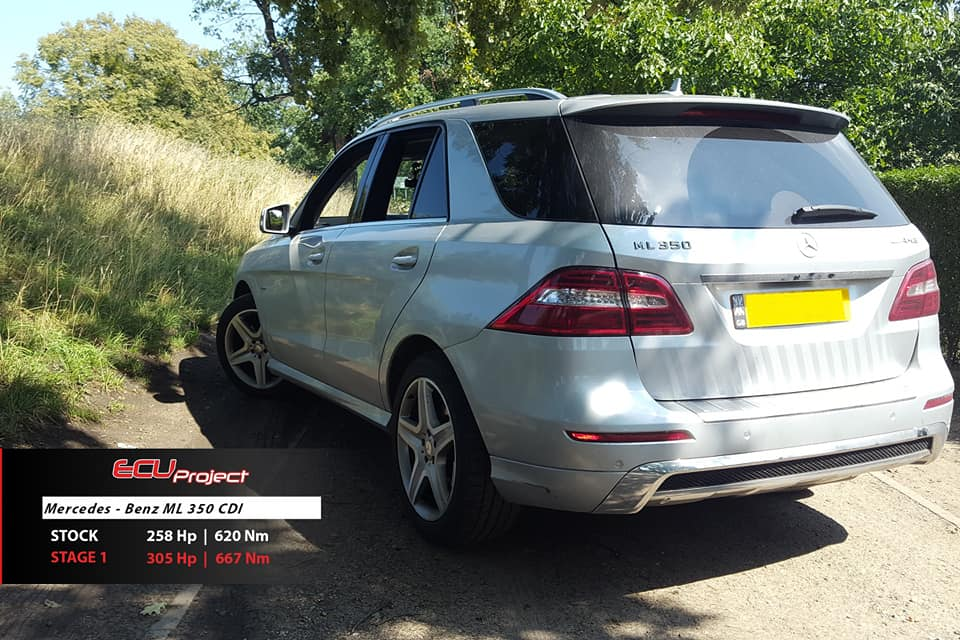Mercedes Benz ML350 CDI W166 tył