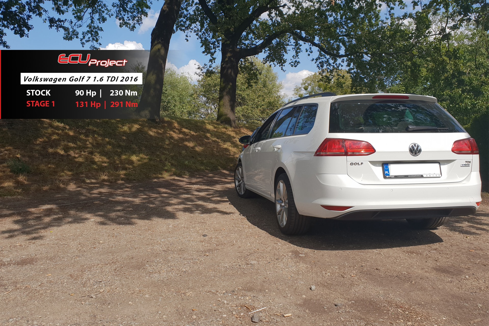 Golf 7 1.6TDI 90Ps tył